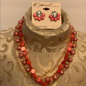 Kim Rogers necklace &earring set
